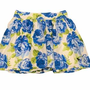 Abercrombie & Fitch Flowing Floral Mini Skirt